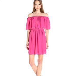 CeCe Cynthia Steffe Ruffle Off Shoulder Dress 👗